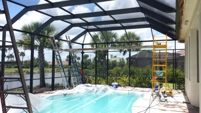 Pompano Beach Pool Screen Enclosure Installation and Patio Repairs Team-We do screen enclosures, patios, pool screens, fences, aluminum roofs, professional screen building, Pool Screen Enclosures, Patio Screen Enclosures, Fences & Gates, Storm Shutters, Decks, Balconies & Railings, Installation, Repairs, and more